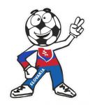 Novelty FOOTBALL HEAD MAN With Slovakia Slovakian Flag Motif For Football Soccer Team Supporter Vinyl Car Sticker 100x85mm